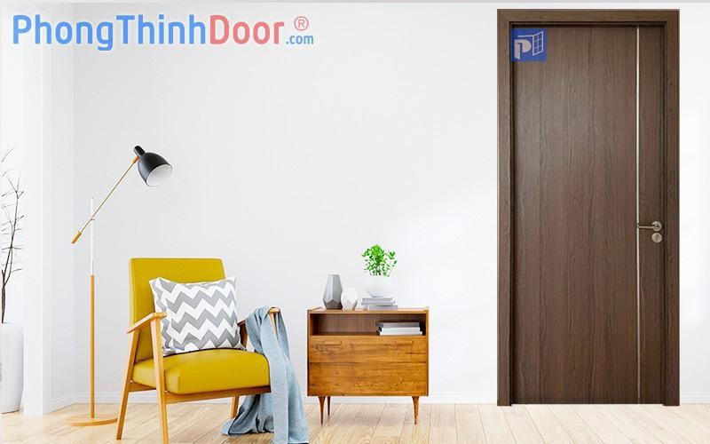 cửa gỗ cao cấp an cường chạy chỉ nhôm