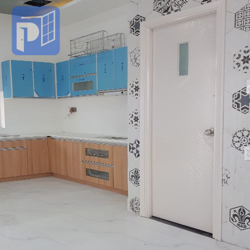 Cửa gỗ HDF Veneer PhongThinhDoor thi công thực tế