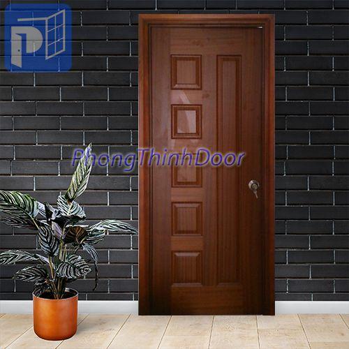 Cửa gỗ HDF Veneer PTD.5B-Xoan đào