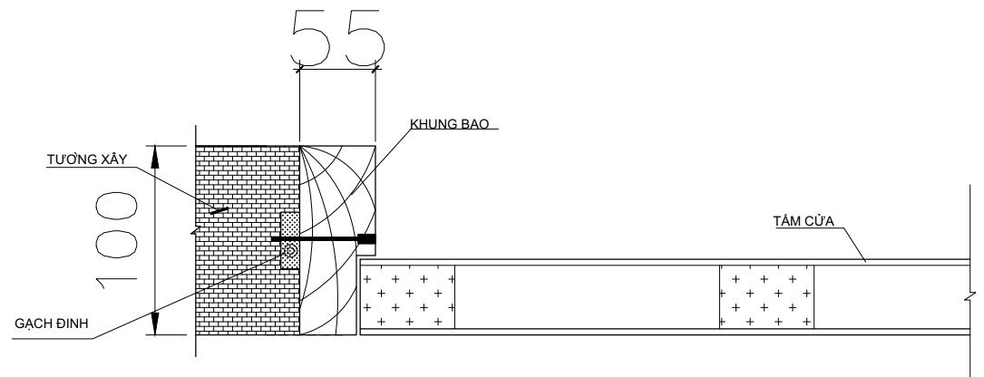độ dày khung bao cửa gỗ