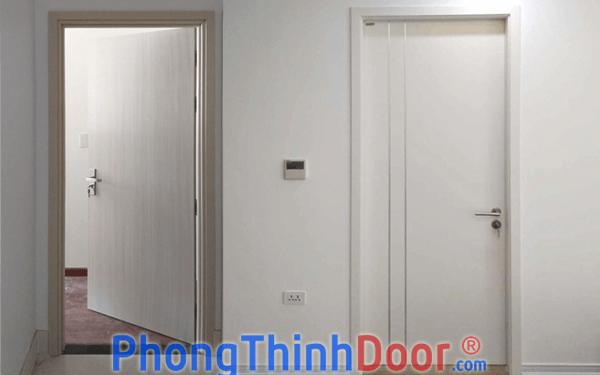 cửa nhựa gỗ composite phẳng