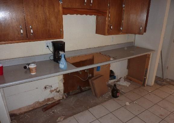 Xử lý tủ bếp bị mối