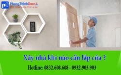 xây nhà khi nào cần lắp cửa
